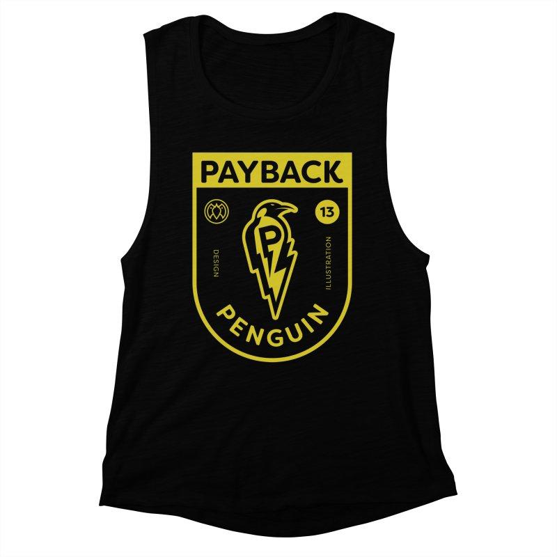 Payback Penguin Lightening Shield - Dark Women's Muscle Tank by Payback Penguin