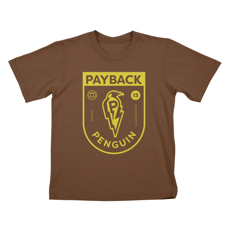 Payback Penguin Lightening Shield - Dark Kids T-Shirt by Payback Penguin