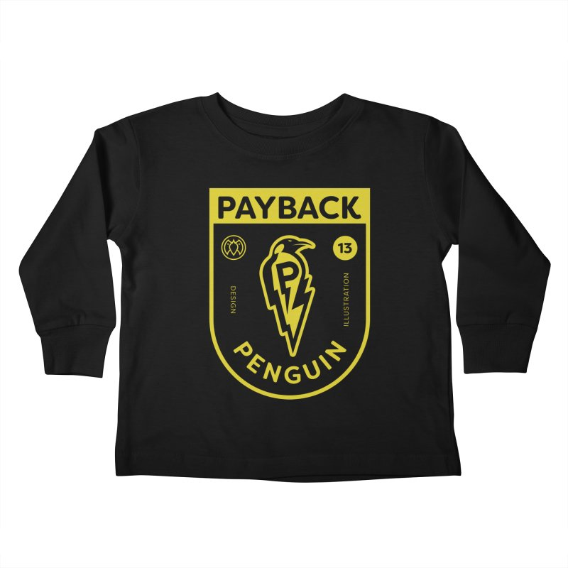 Payback Penguin Lightening Shield - Dark Kids Toddler Longsleeve T-Shirt by Payback Penguin