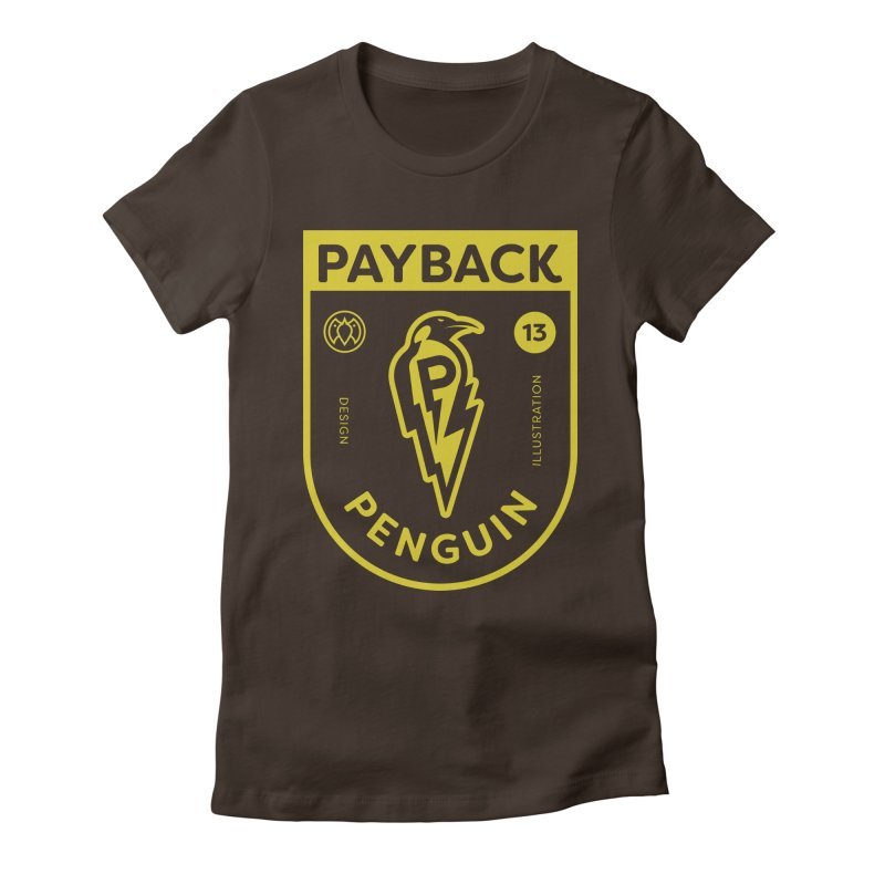 Payback Penguin Lightening Shield - Dark Women's T-Shirt by Payback Penguin