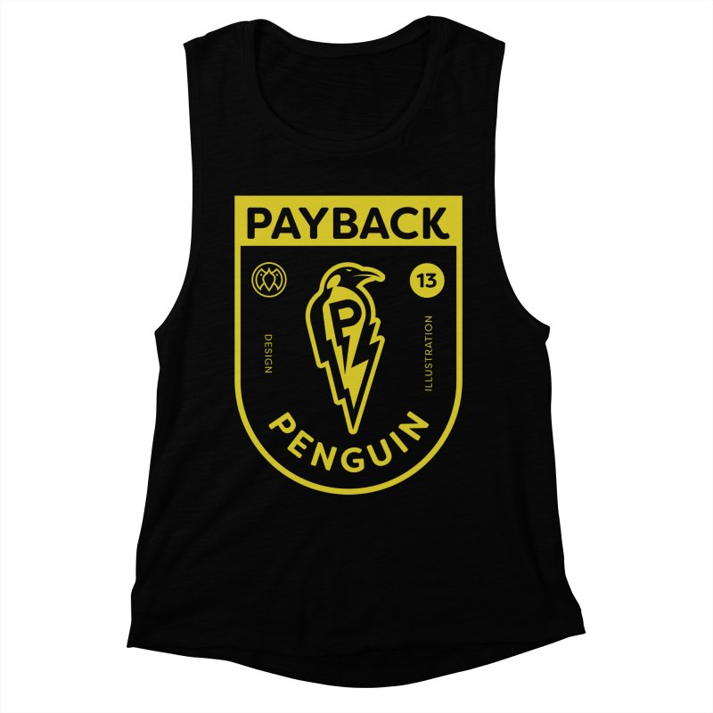 Payback Penguin Lightening Shield - Dark Women's Muscle Tank by Payback Penguin