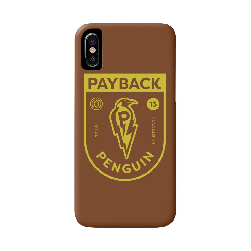 Payback Penguin Lightening Shield - Dark Accessories Phone Case by Payback Penguin