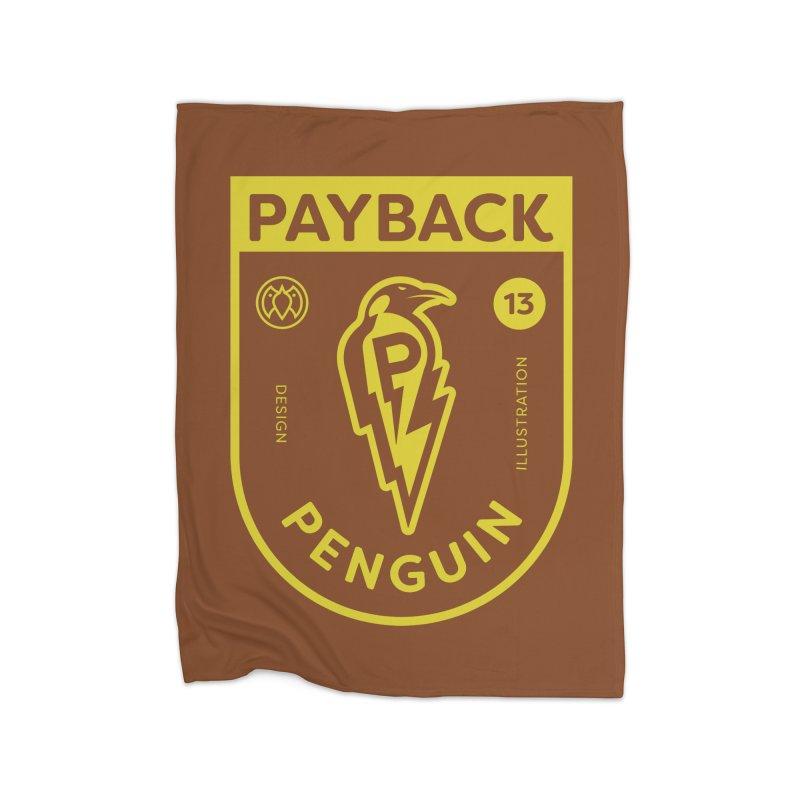 Payback Penguin Lightening Shield - Dark Home Blanket by Payback Penguin