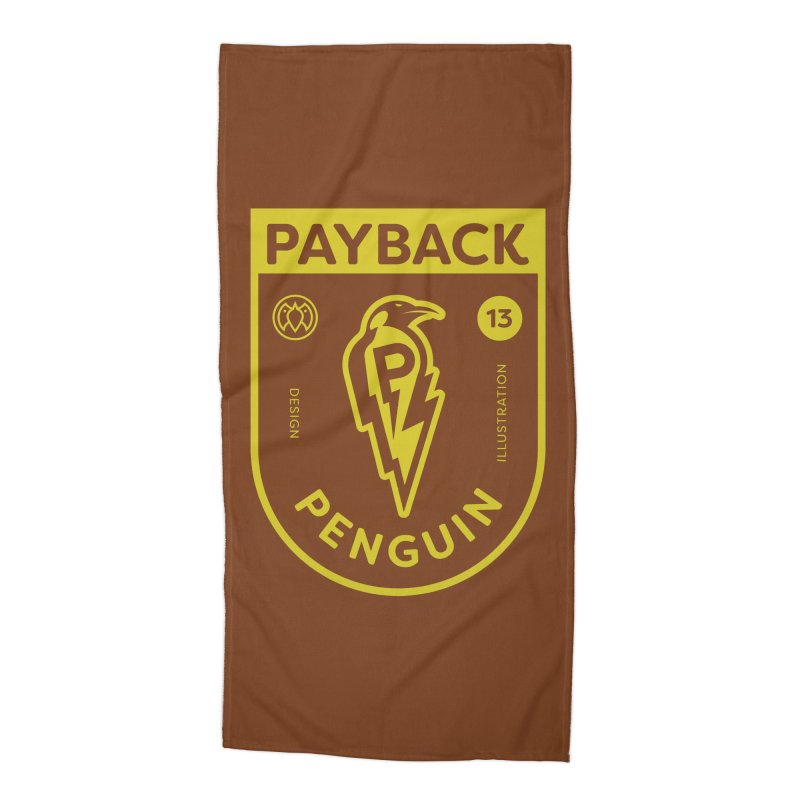 Payback Penguin Lightening Shield - Dark Accessories Beach Towel by Payback Penguin