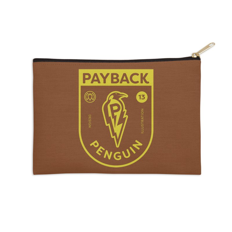 Payback Penguin Lightening Shield - Dark Accessories Zip Pouch by Payback Penguin