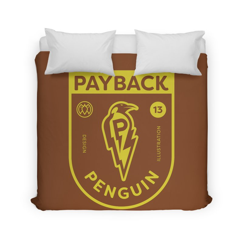 Payback Penguin Lightening Shield - Dark Home Duvet by Payback Penguin