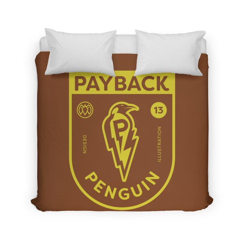 Payback Penguin Lightening Shield - Dark Home Duvet by Payback Penguin