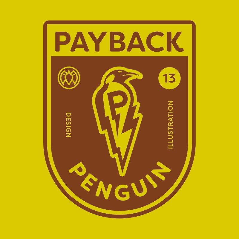 Payback Penguin - Lightening Shield Light Men's Heavyweight T-Shirt by Payback Penguin