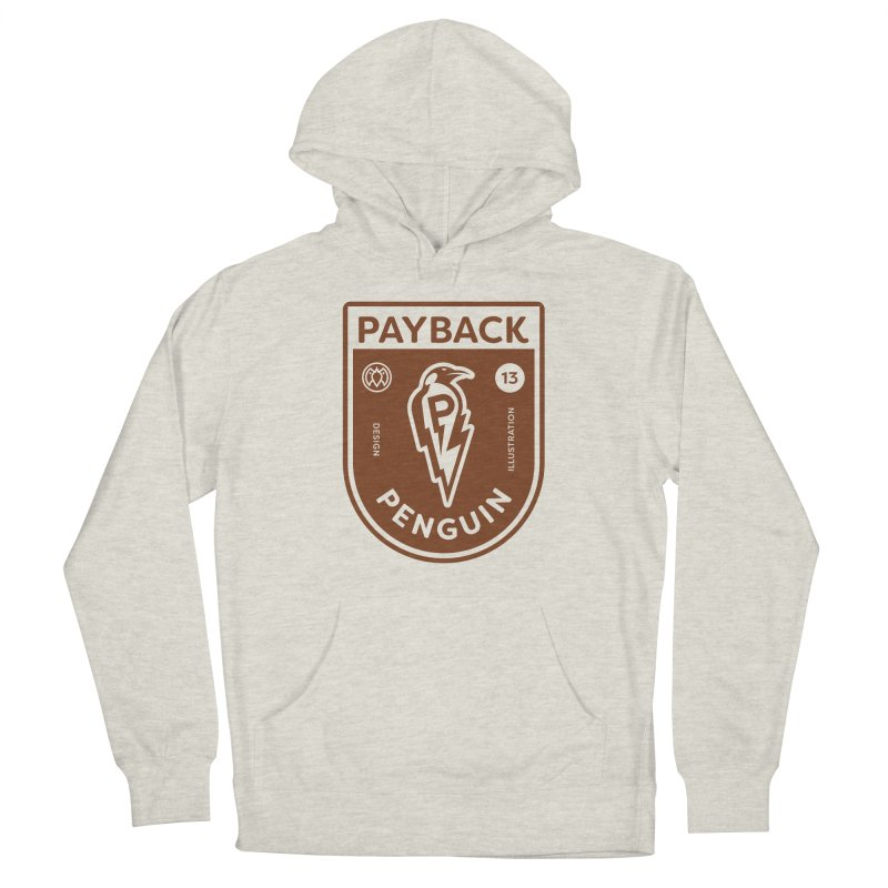 Payback Penguin - Lightening Shield Light Men's French Terry Pullover Hoody by Payback Penguin