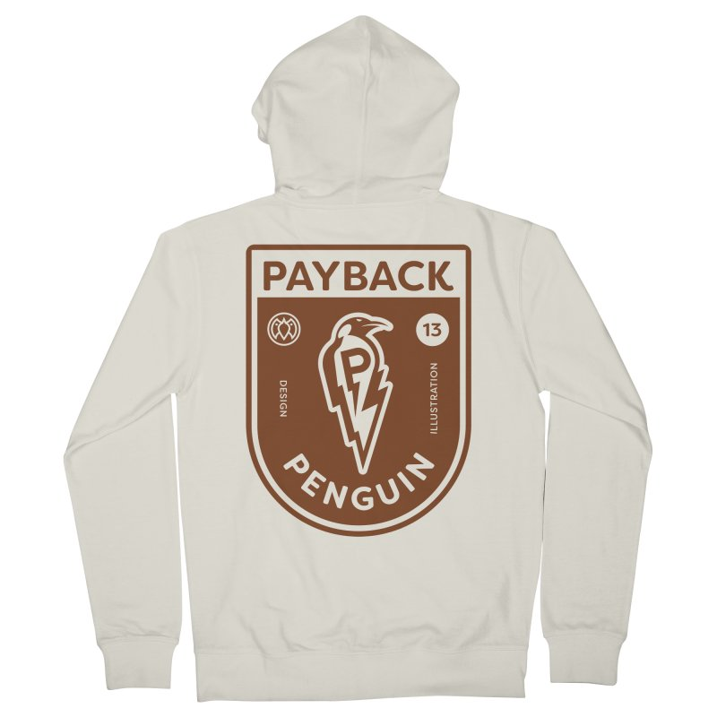Payback Penguin - Lightening Shield Light Men's French Terry Zip-Up Hoody by Payback Penguin