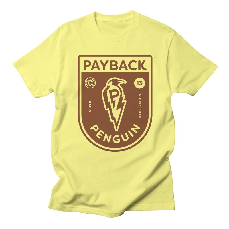 Payback Penguin - Lightening Shield Light Men's Regular T-Shirt by Payback Penguin