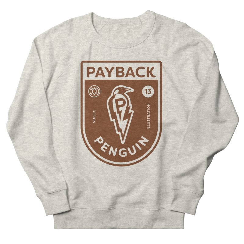 Payback Penguin - Lightening Shield Light Men's French Terry Sweatshirt by Payback Penguin