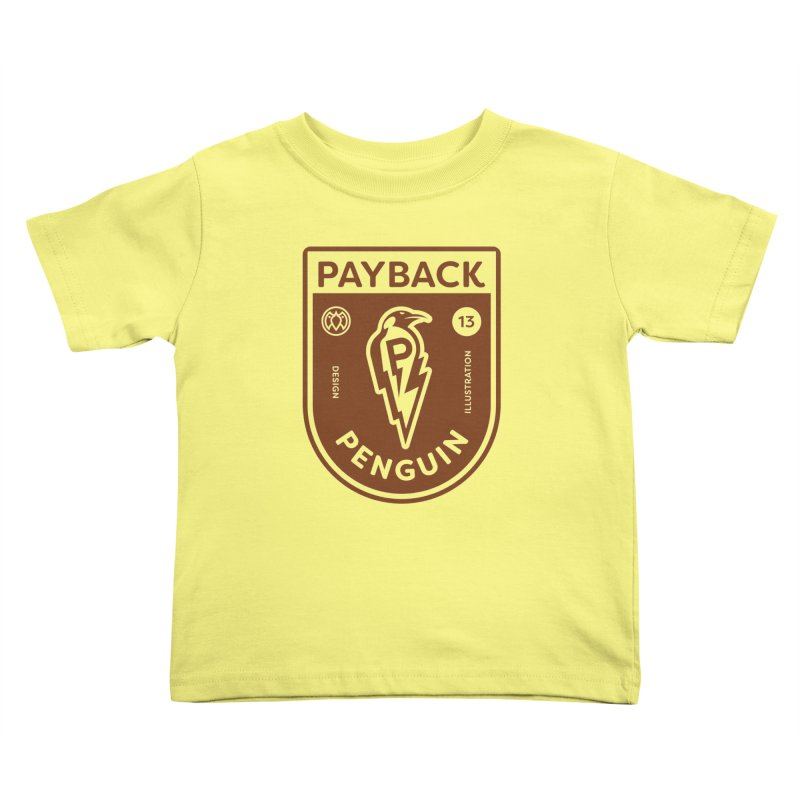 Payback Penguin - Lightening Shield Light Kids Toddler T-Shirt by Payback Penguin