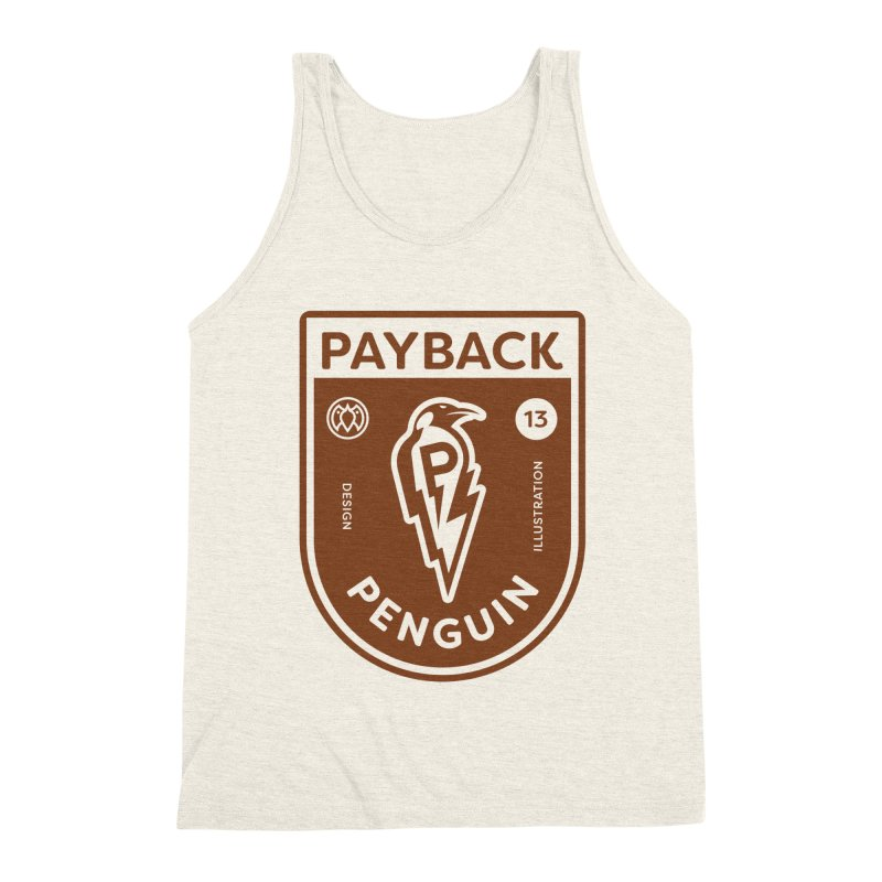 Payback Penguin - Lightening Shield Light Men's Triblend Tank by Payback Penguin