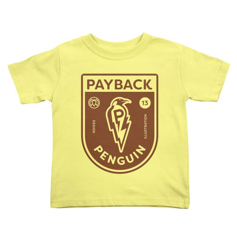 Payback Penguin - Lightening Shield Light Kids Toddler T-Shirt by Payback Penguin