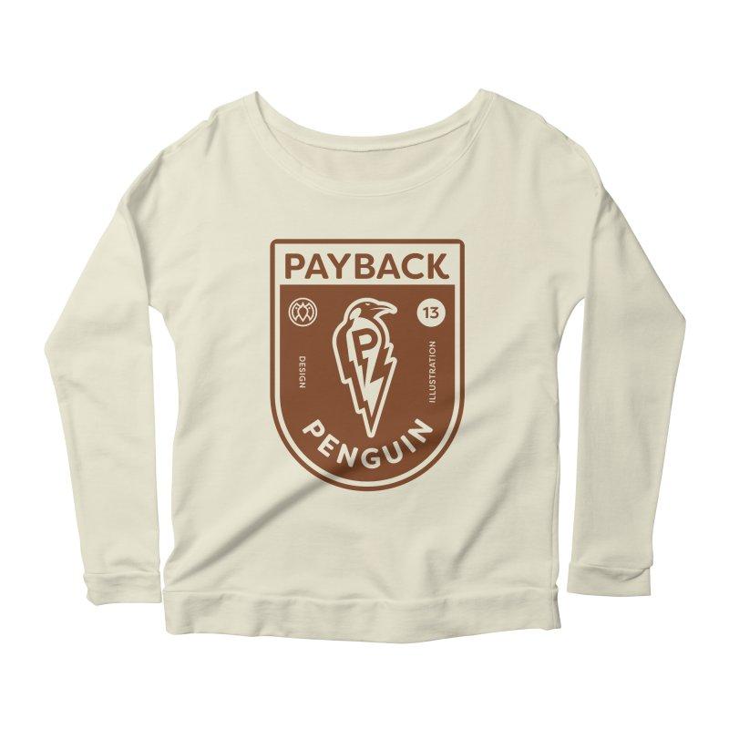 Payback Penguin - Lightening Shield Light Women's Scoop Neck Longsleeve T-Shirt by Payback Penguin