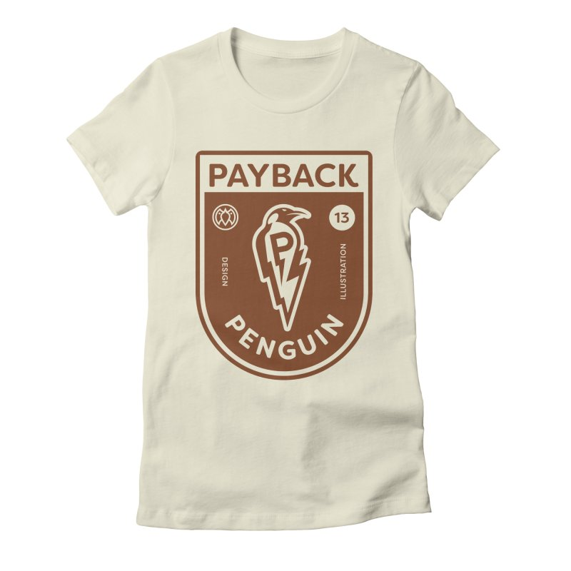 Payback Penguin - Lightening Shield Light Women's Fitted T-Shirt by Payback Penguin
