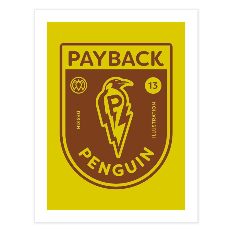 Payback Penguin - Lightening Shield Light Home Fine Art Print by Payback Penguin