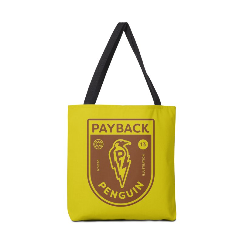 Payback Penguin - Lightening Shield Light Accessories Tote Bag Bag by Payback Penguin