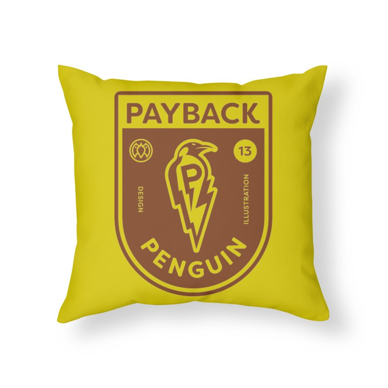 Payback Penguin - Lightening Shield Light Home Throw Pillow by Payback Penguin