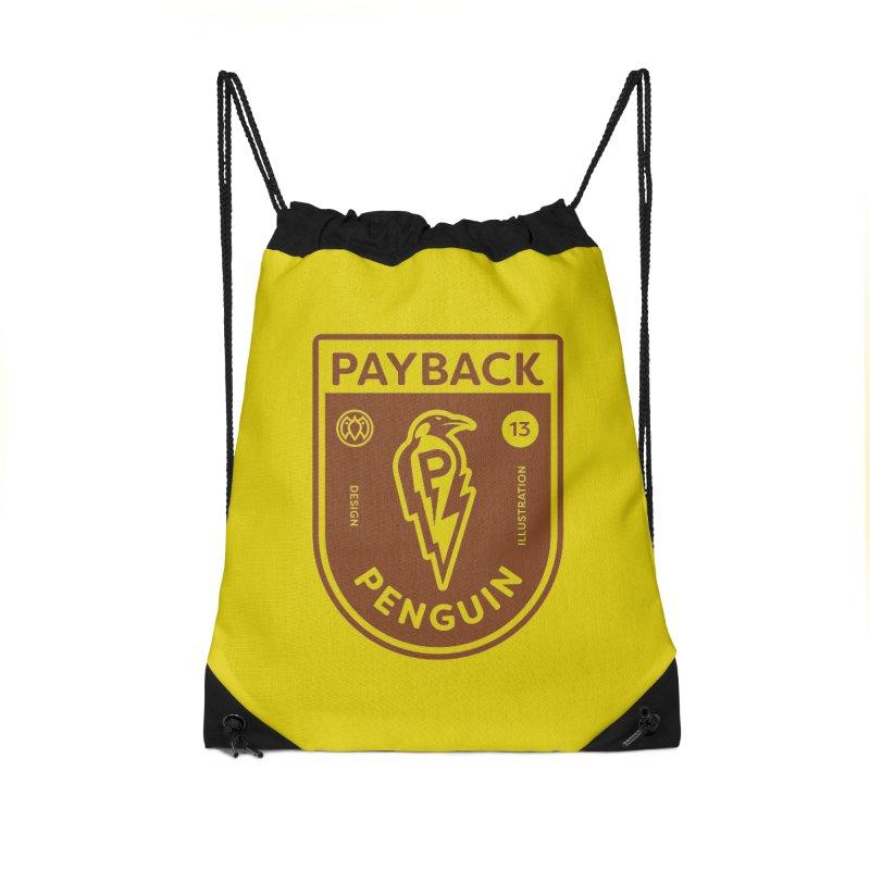 Payback Penguin - Lightening Shield Light Accessories Drawstring Bag Bag by Payback Penguin