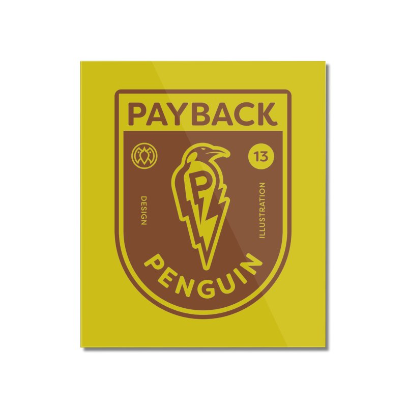 Payback Penguin - Lightening Shield Light Home Mounted Acrylic Print by Payback Penguin