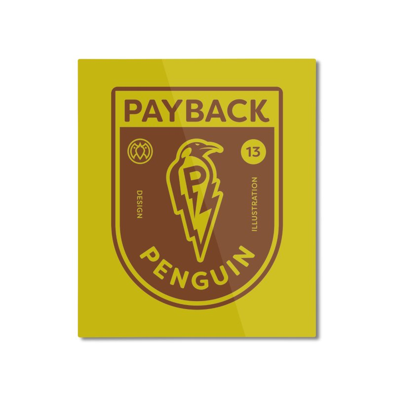Payback Penguin - Lightening Shield Light Home Mounted Aluminum Print by Payback Penguin