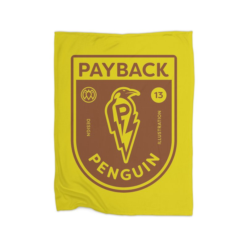 Payback Penguin - Lightening Shield Light Home Fleece Blanket Blanket by Payback Penguin