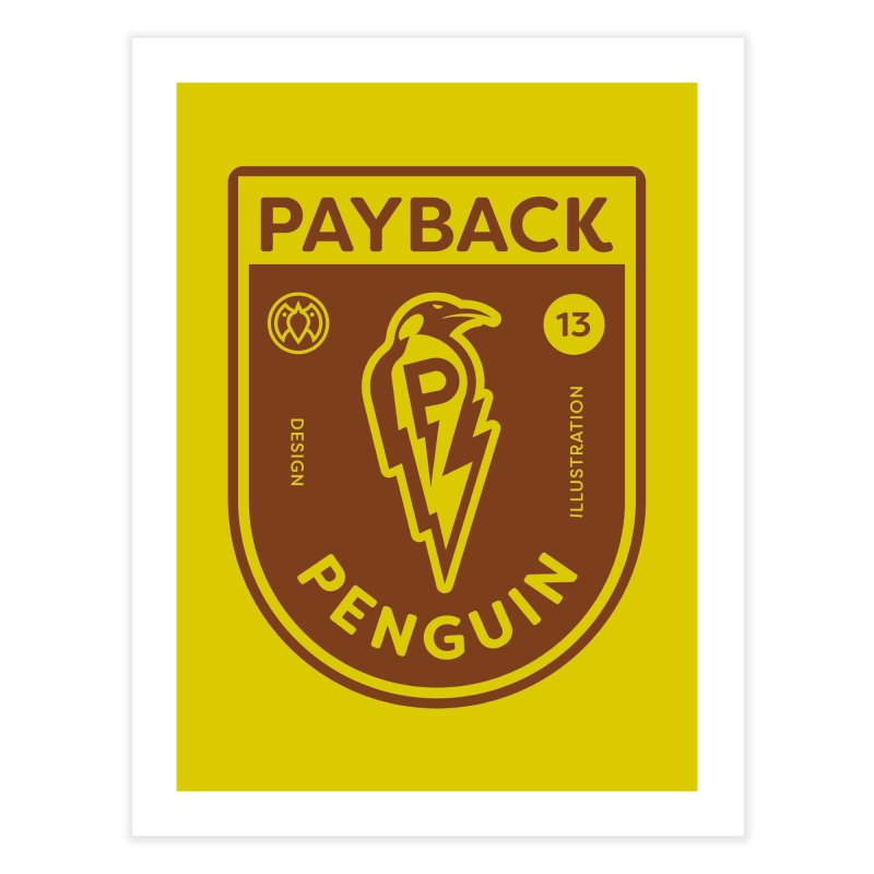 Payback Penguin - Lightening Shield Light Home Fine Art Print by Payback Penguin