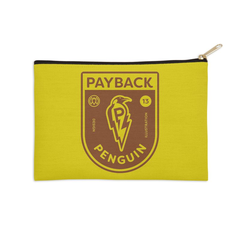 Payback Penguin - Lightening Shield Light Accessories Zip Pouch by Payback Penguin
