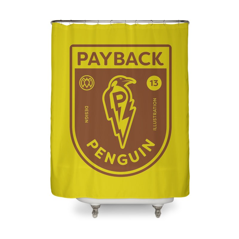 Payback Penguin - Lightening Shield Light Home Shower Curtain by Payback Penguin