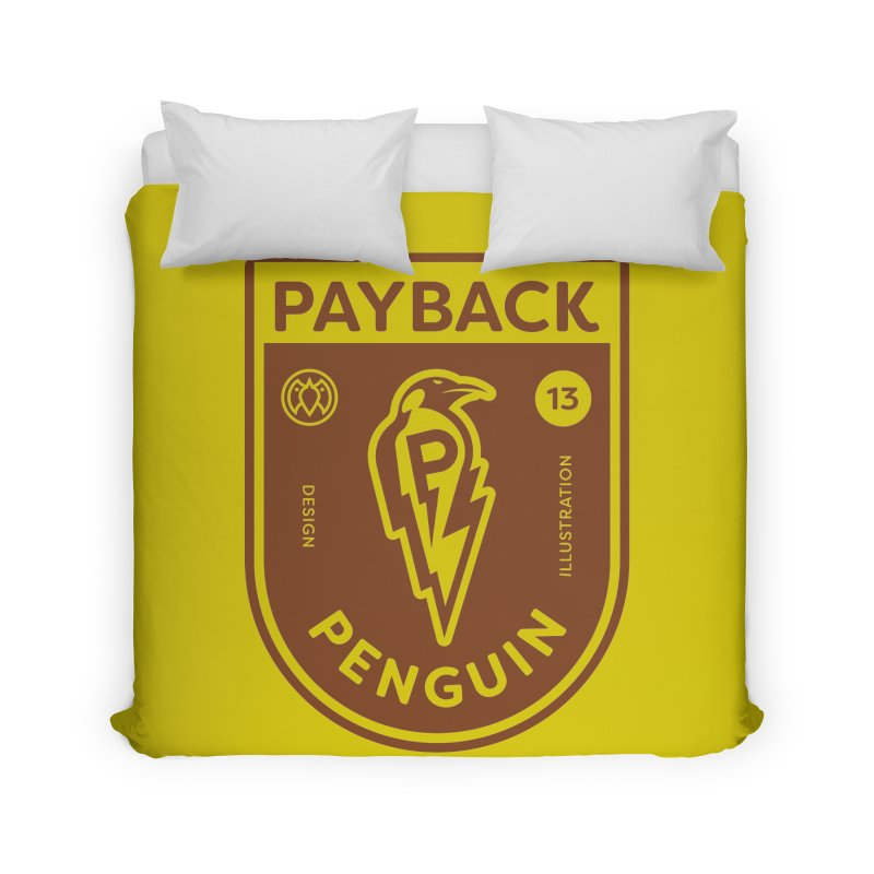 Payback Penguin - Lightening Shield Light Home Duvet by Payback Penguin