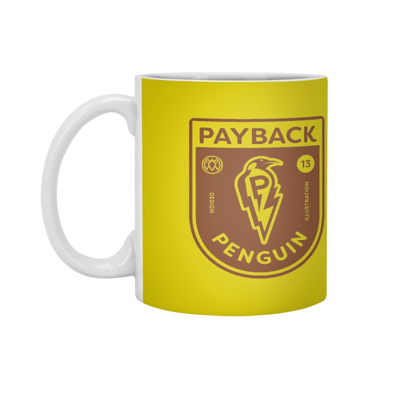 Payback Penguin - Lightening Shield Light Accessories Mug by Payback Penguin