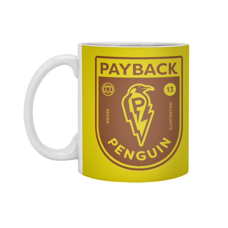 Payback Penguin - Lightening Shield Light Accessories Standard Mug by Payback Penguin