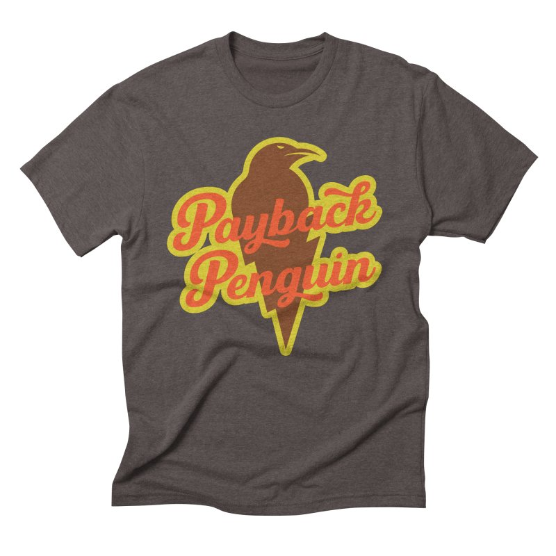 Payback Penguin - Lightening Men's Triblend T-Shirt by Payback Penguin