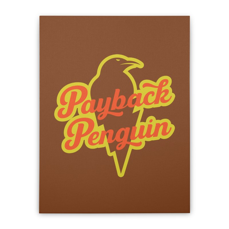 Payback Penguin - Lightening Home Stretched Canvas by Payback Penguin