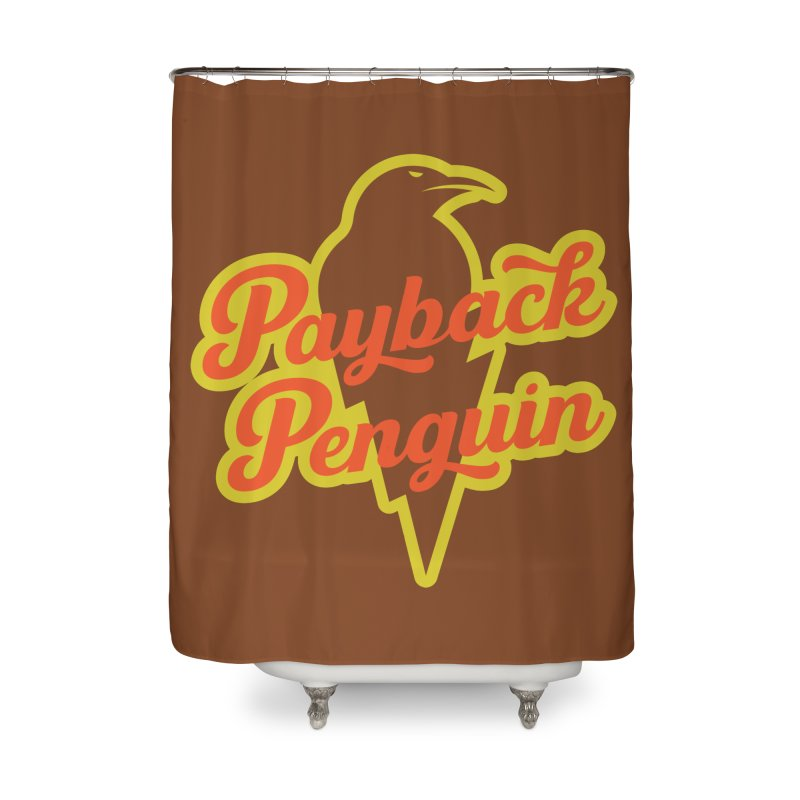 Payback Penguin - Lightening Home Shower Curtain by Payback Penguin