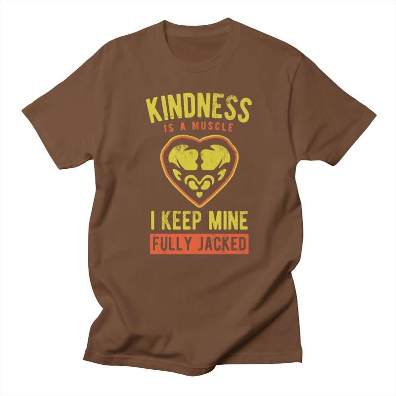 Payback Penguin - Kindness (Brown) in Men's Regular T-Shirt Brown by Payback Penguin
