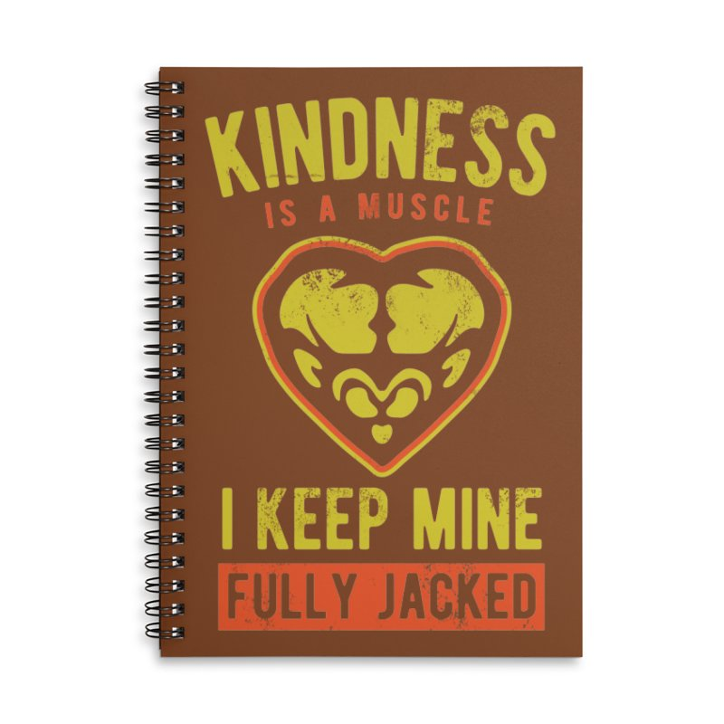 Payback Penguin - Kindness (Brown) Accessories Lined Spiral Notebook by Payback Penguin