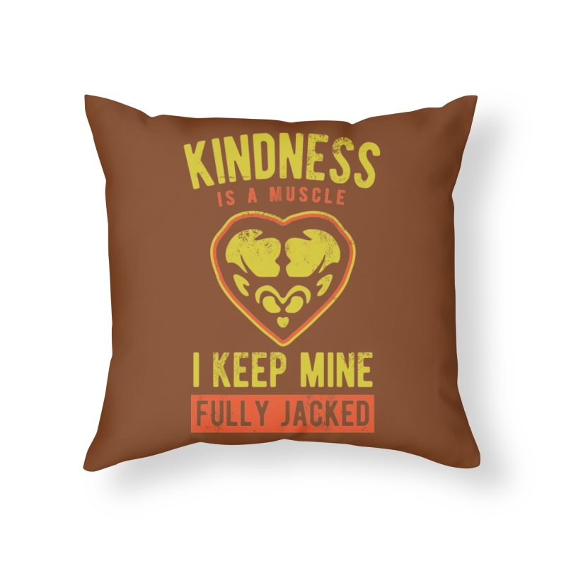 Payback Penguin - Kindness (Brown) Home Throw Pillow by Payback Penguin