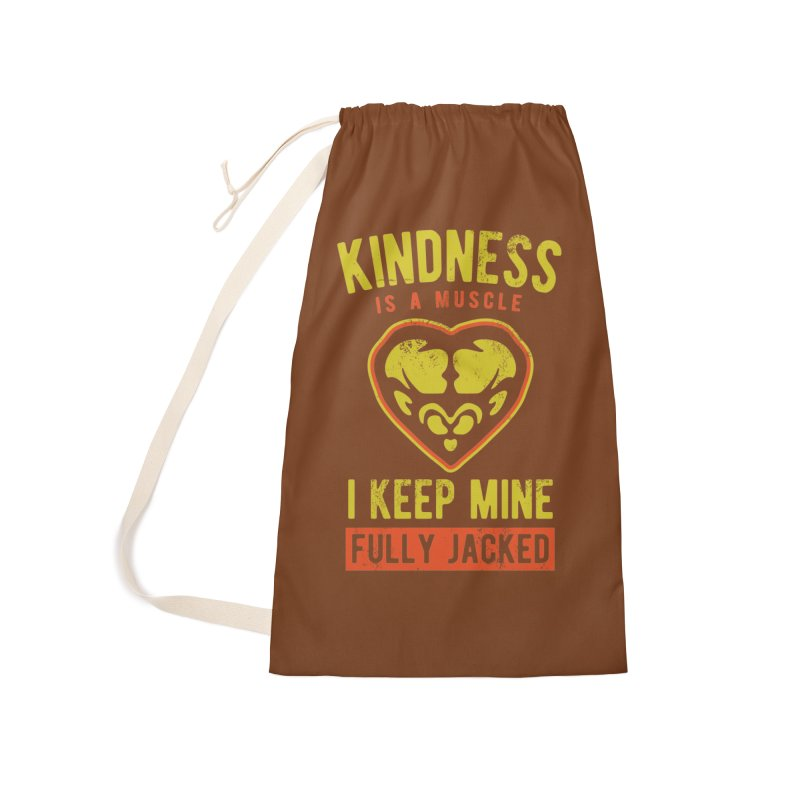 Payback Penguin - Kindness (Brown) Accessories Laundry Bag Bag by Payback Penguin