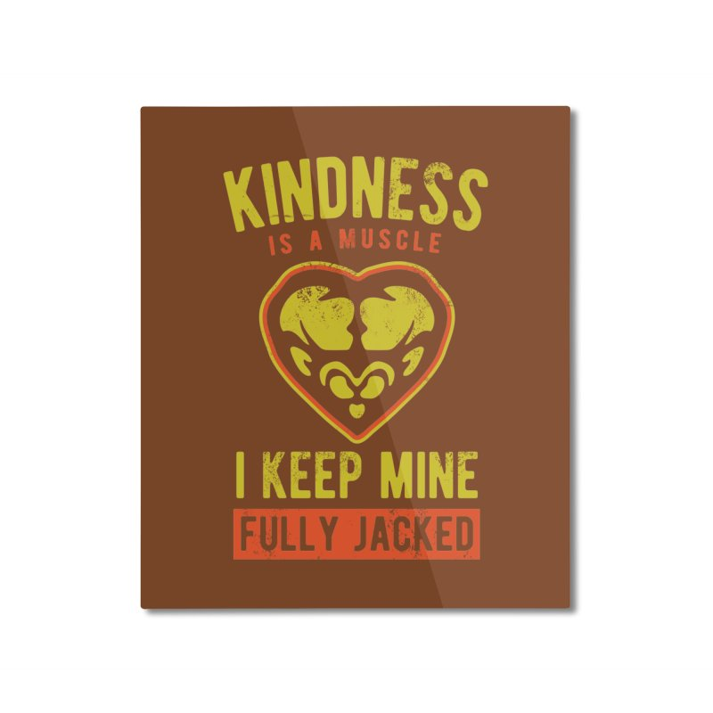 Payback Penguin - Kindness (Brown) Home Mounted Aluminum Print by Payback Penguin