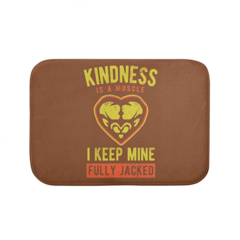 Payback Penguin - Kindness (Brown) Home Bath Mat by Payback Penguin