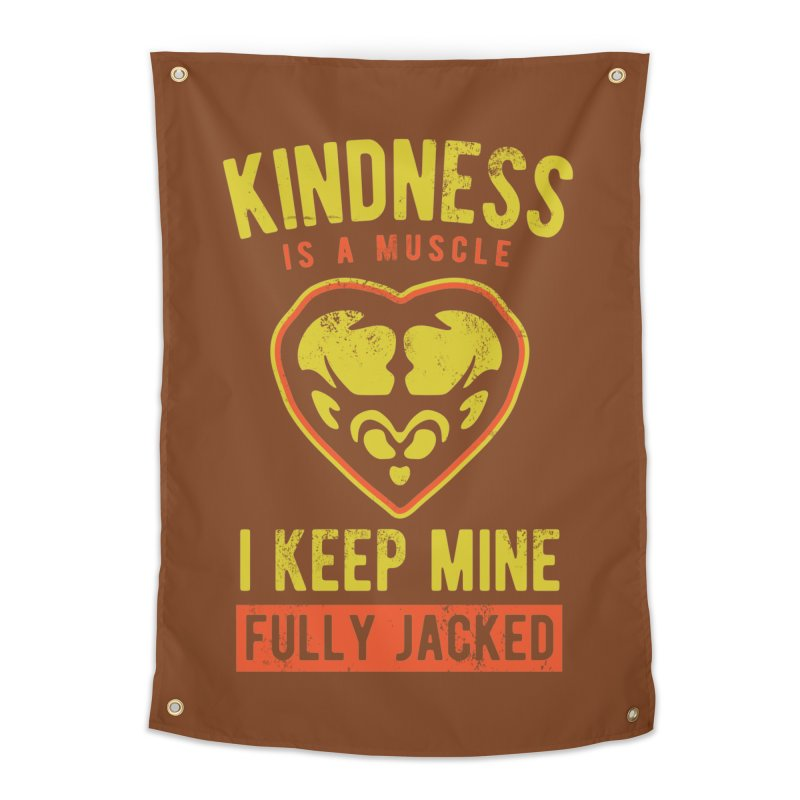Payback Penguin - Kindness (Brown) Home Tapestry by Payback Penguin