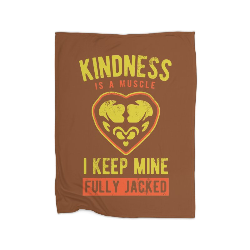 Payback Penguin - Kindness (Brown) Home Fleece Blanket by Payback Penguin