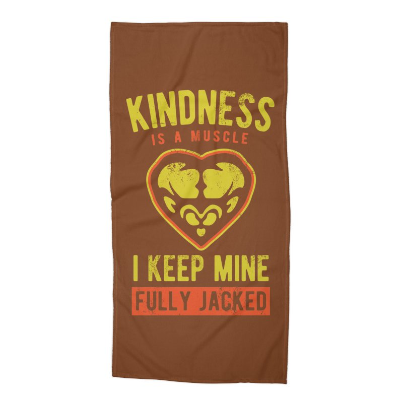 Payback Penguin - Kindness (Brown) Accessories Beach Towel by Payback Penguin