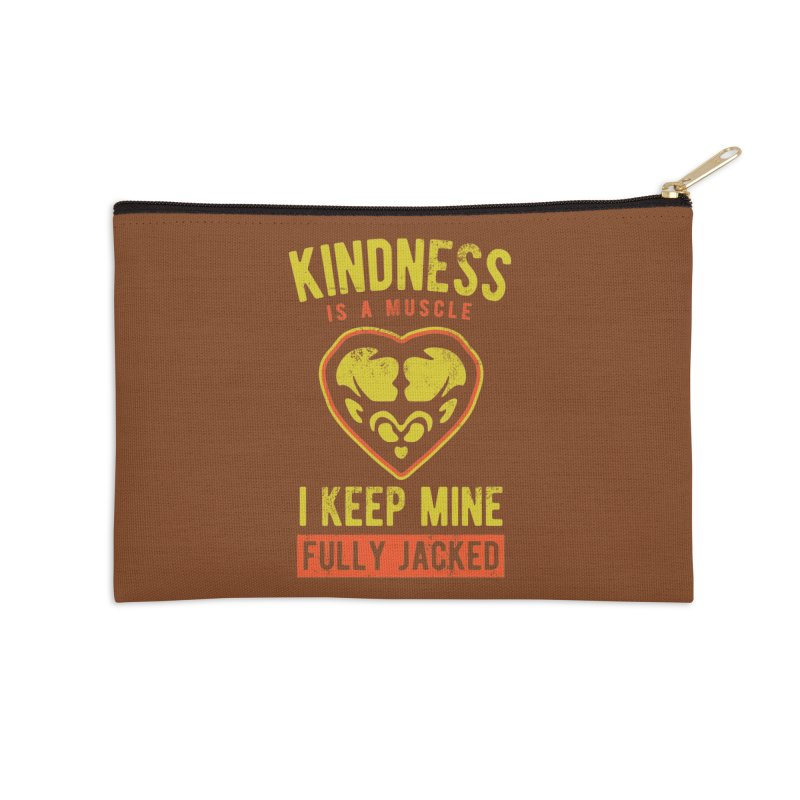 Payback Penguin - Kindness (Brown) Accessories Zip Pouch by Payback Penguin