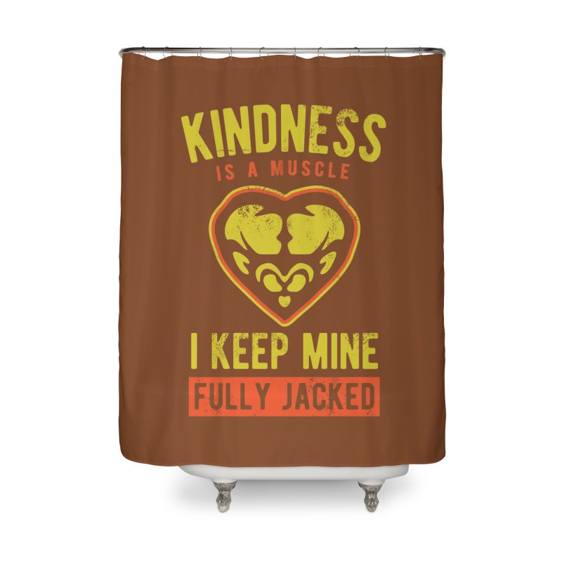 Payback Penguin - Kindness (Brown) Home Shower Curtain by Payback Penguin