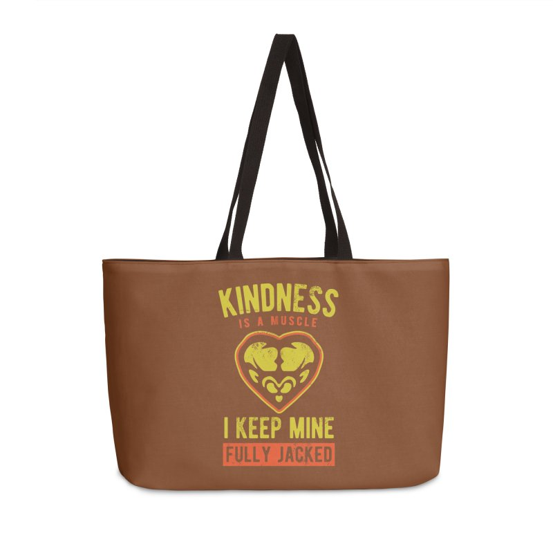Payback Penguin - Kindness (Brown) Accessories Weekender Bag Bag by Payback Penguin