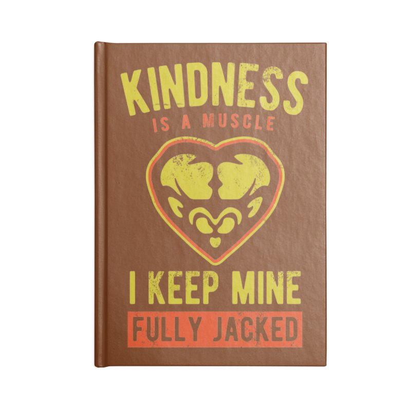 Payback Penguin - Kindness (Brown) Accessories Blank Journal Notebook by Payback Penguin